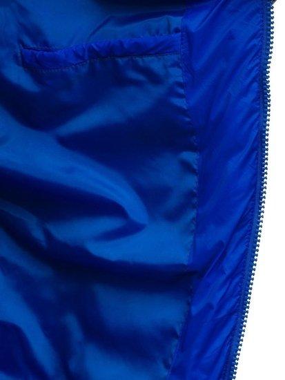 Kurtka męska zimowa sportowa niebieska Denley JS516