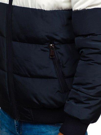 Kurtka męska zimowa sportowa pikowana granatowa Denley JK397