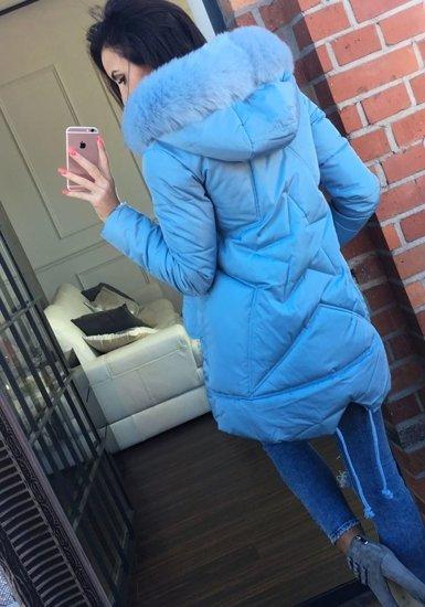 Kurtka zimowa damska błękitna Denley 826