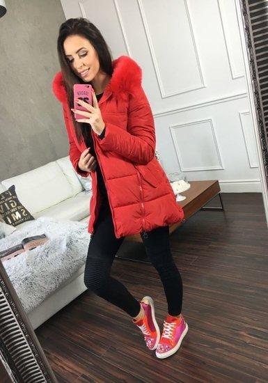 Kurtka zimowa damska czerwona Denley 826