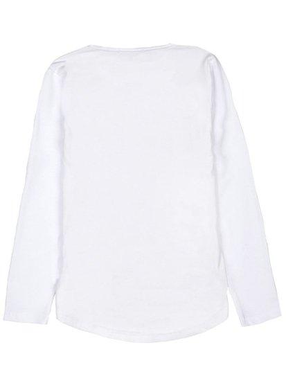 Longsleeve chłopięcy z nadrukiem biały Denley HB1906