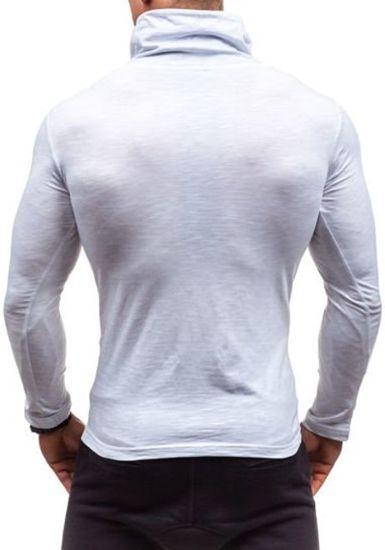 Longsleeve męski z nadrukiem biały Denley 2208
