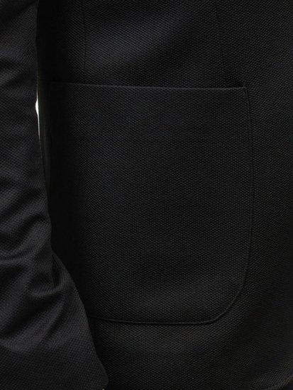 Marynarka męska casual czarna Bolf 089