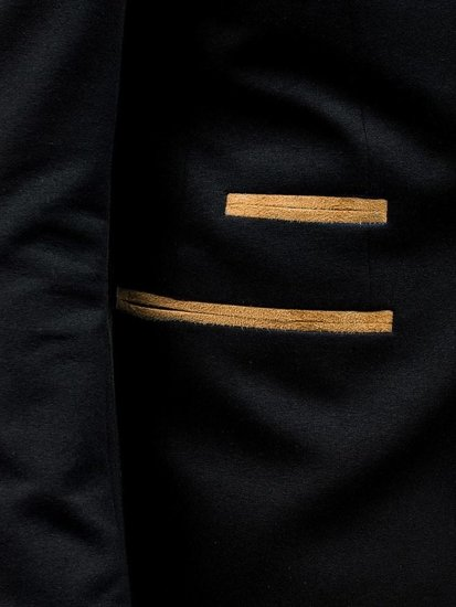 Marynarka męska elegancka czarna Bolf 9400