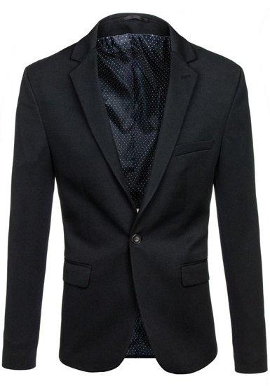 Marynarka męska elegancka czarna Denley 001