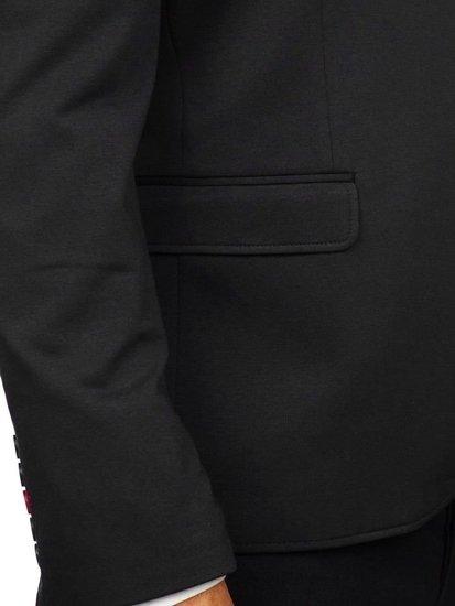 Marynarka męska elegancka czarna Denley RBR406