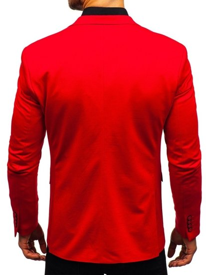 Marynarka męska elegancka czerwona Denley 191060