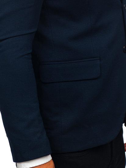 Marynarka męska elegancka granatowa Denley SR2003