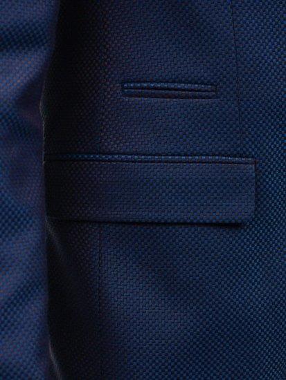 Marynarka męska elegancka niebiesko-brązowa Denley 2222