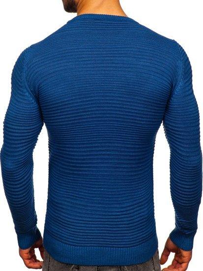 Niebieski sweter męski Denley 4608
