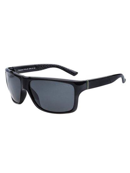 Okulary przeciwsłoneczne polaryzacyjne czarne Denley PLS402