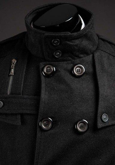 Płaszcz męski czarny Denley 8857B