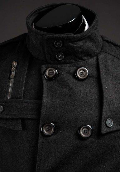 Płaszcz męski zimowy czarny Denley 1903