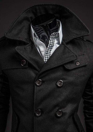 Płaszcz męski zimowy czarny Denley 1906
