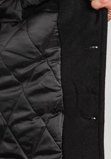 Płaszcz męski zimowy czarny Denley 308