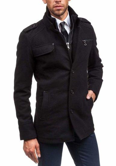 Płaszcz męski zimowy czarny Denley 8856B
