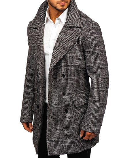 Płaszcz męski zimowy szary Denley 1118