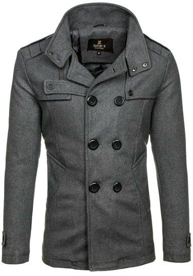 Płaszcz męski zimowy szary Denley 308