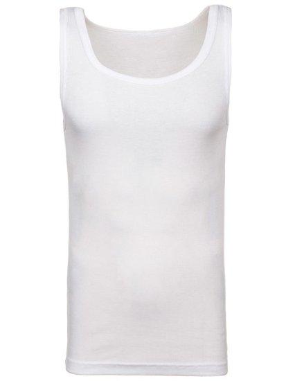 Podkoszulek męski bez nadruku biały Denley C10008-A
