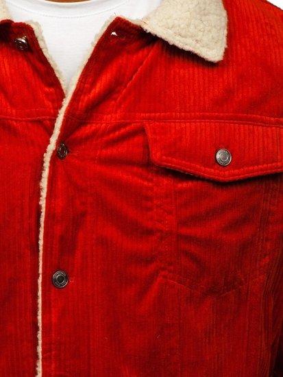 Pomarańczowa przejściowa kurtka męska Denley 1179