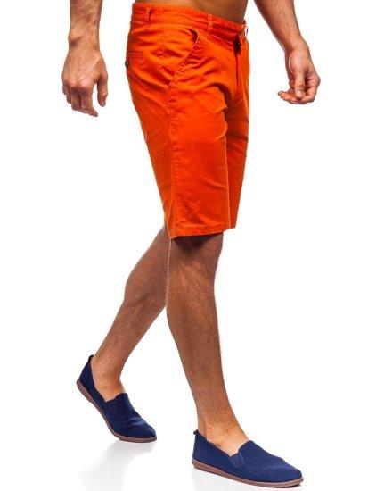 Pomarańczowe szorty męskie Denley 1140