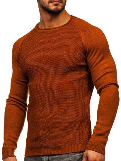 Pomarańczowy sweter męski Denley 1009