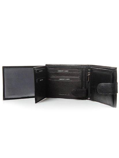 Portfel męski skórzany czarny 3080