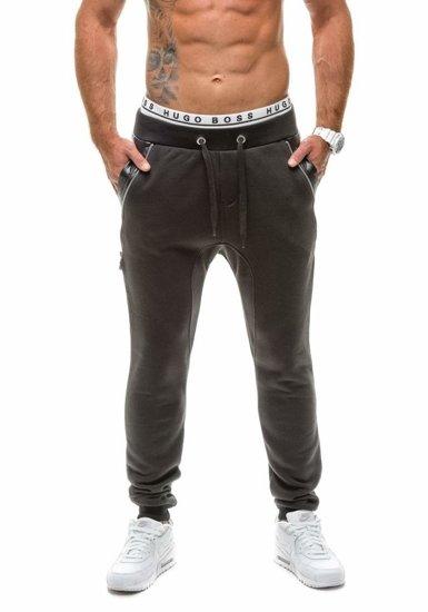 Spodnie baggy męskie czarne Denley k14