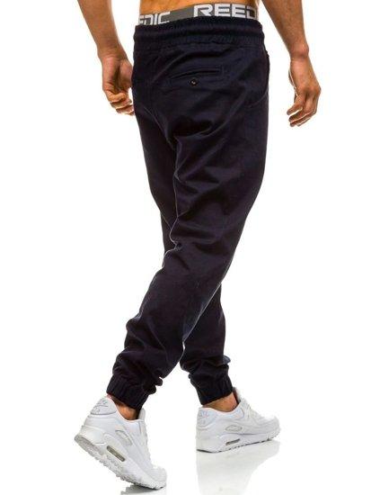 Spodnie baggy męskie granatowe Denley 0399