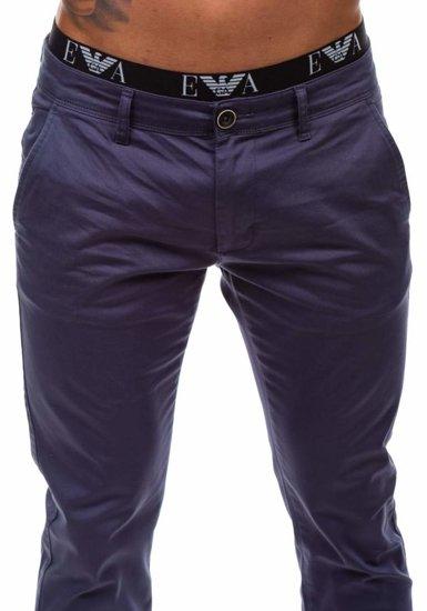 Spodnie chinosy męskie antracytowe Denley 1557
