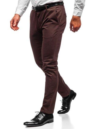 Spodnie chinosy męskie brązowe Denley 1120