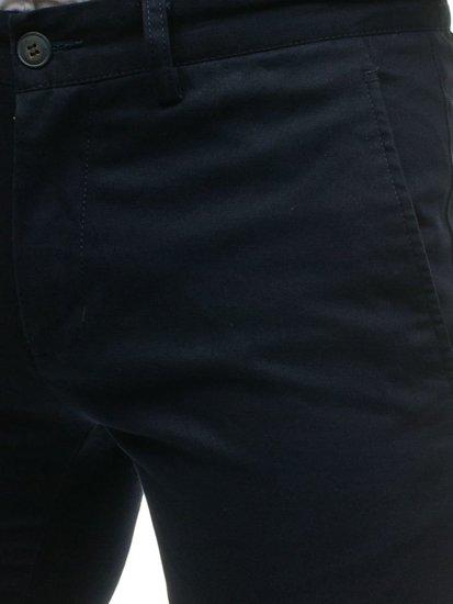 Spodnie chinosy męskie granatowe Denley HO7