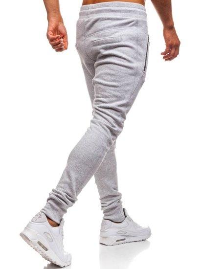 Spodnie dresowe baggy męskie szare Bolf 43S-S