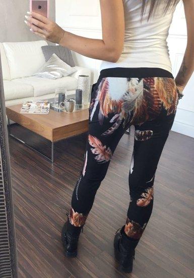 Spodnie dresowe damskie czarne Denley 1044