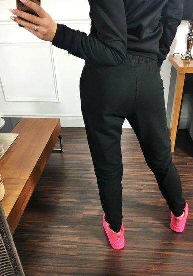 Spodnie dresowe damskie czarne Denley 1609