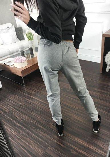 Spodnie dresowe damskie szare Denley 1609