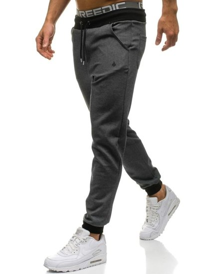 Spodnie dresowe męskie antracytowe Denley 1139