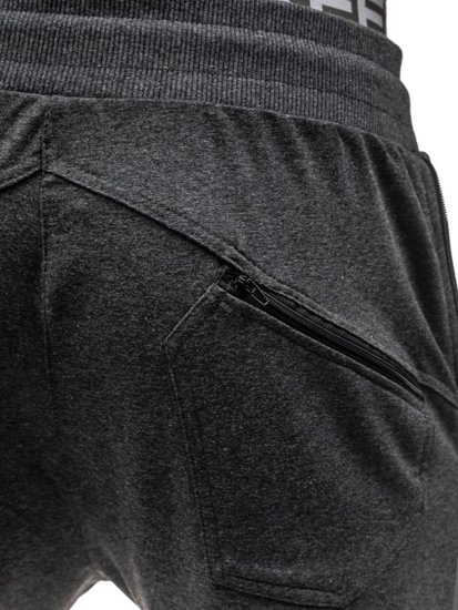 Spodnie dresowe męskie grafitowe Denley 0415