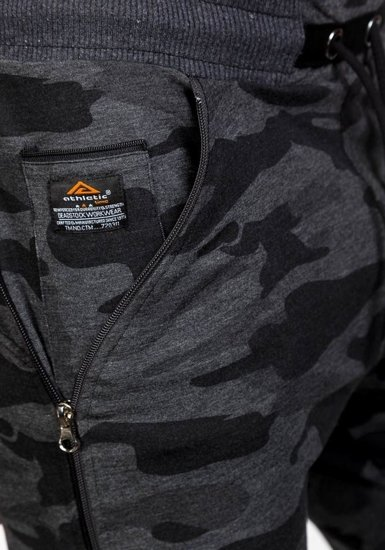 Spodnie dresowe męskie moro-antracytowe Denley 0415
