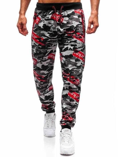 Spodnie dresowe męskie moro-szare Denley 55058