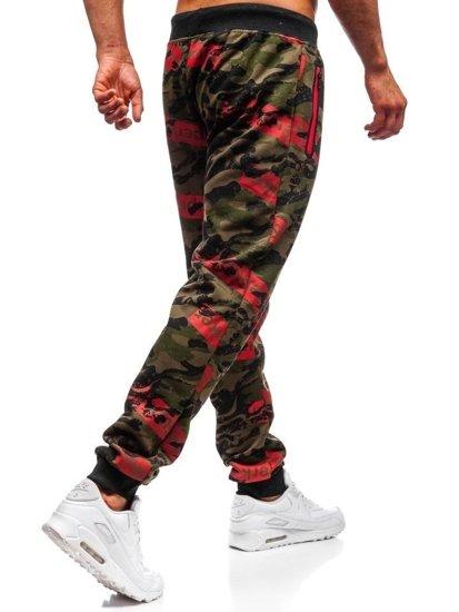 Spodnie dresowe męskie moro-zielone Denley 55058