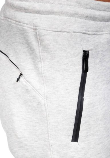 Spodnie dresowe męskie szare Denley 4972