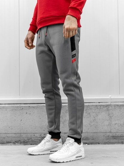 Spodnie dresowe męskie szare Denley AM80