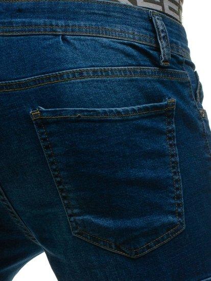 Spodnie jeansowe bojówki niebieskie Denley 524