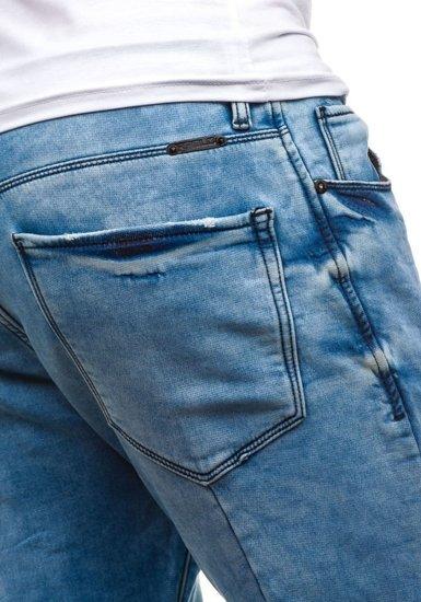 Spodnie jeansowe męskie niebieskie Denley 4436 (8419)