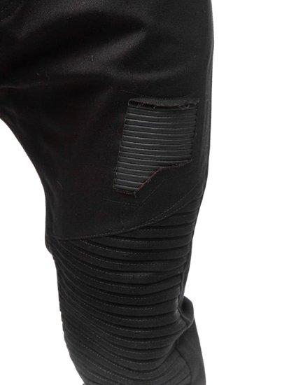 Spodnie joggery męskie czarne Denley 0829