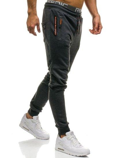 Spodnie męskie dresowe grafitowe Denley 1607