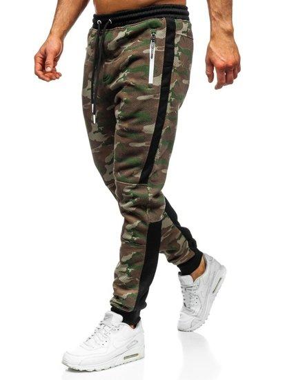 Spodnie męskie dresowe joggery moro multikolor Denley 3783A