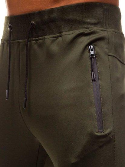Spodnie męskie dresowe joggery zielone Denley HM007