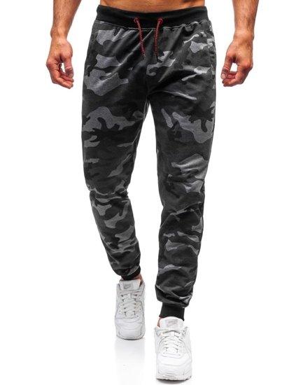 Spodnie męskie dresowe moro-grafitowe Denley MK19
